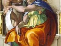 Michelangelo Sibilla delfica (sklepienie kaplicy