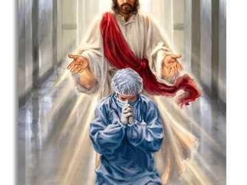 Jésus miséricordieux bénit le saint de nos héros - Jésus miséricordieux bénit nos héros guérisseurs