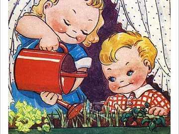 Comic Postkarte =) - Comic Postkarte =) Bewässerung der Pflanzen