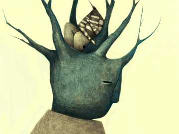 The Tree Illustration - Illustration by Isidro R. Esquivel