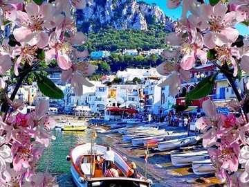 Capri - Włochy - Capri - Włochy - widok na góry