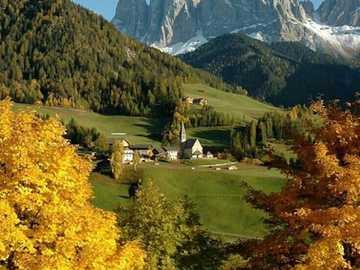 Mountain landscape. - Landscape puzzle.