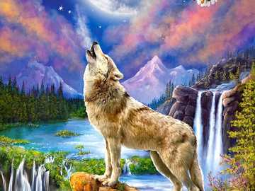 Wolves ... - Puzzle for children: wolves.
