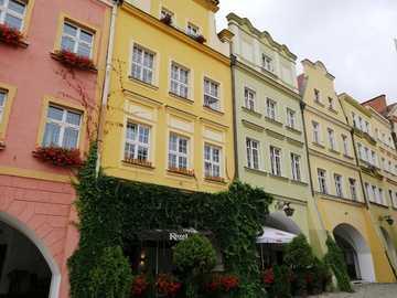 Market - Jelenia Góra - Tenements at the Market Square in Jelenia Góra