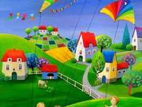 Windy day, ideal for flying kites - Windy day, ideal to fly kites