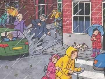 Journée orageuse - En sortant de l'école, journée froide!