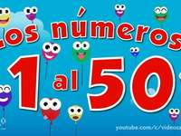 THE NUMBERS FROM 1 TO 50