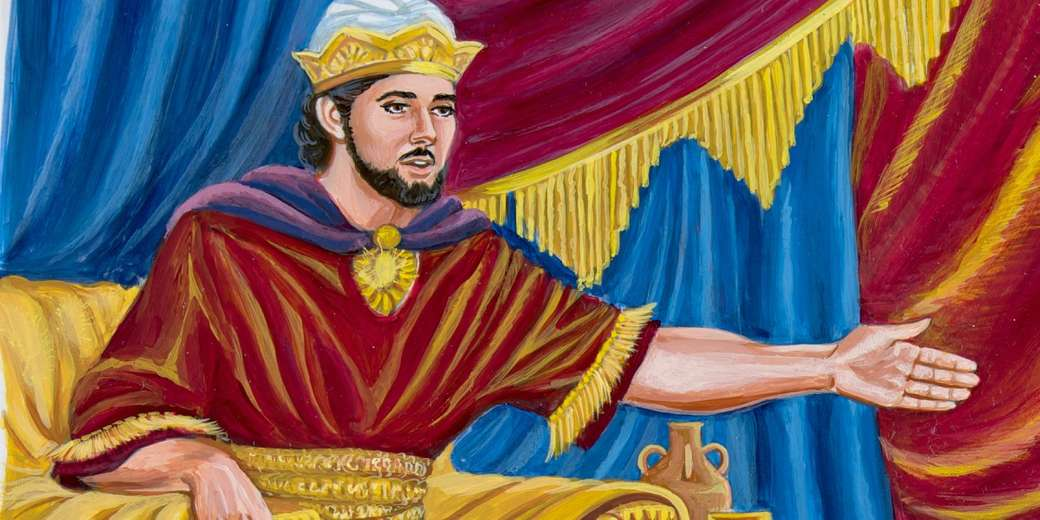 KING SALOMÃO - REI SALOMÃO EM SEU TRONO (6×3)