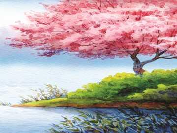 RÓŻOWE DRZEWO - Różowe drzewo do zebrania !!