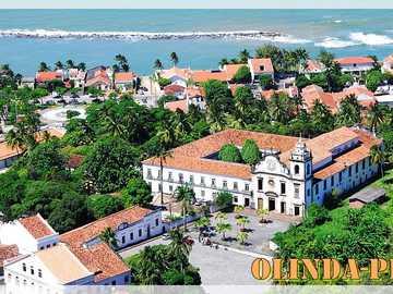 Miasto Olinda - Miasto Olinda, położone w stanie Pernambuco, w Brazylii. Piękna sceneria!