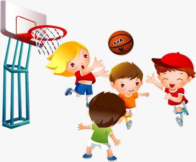 Speel basketbal - Speel basketbal. Speel basketbal voor de kinderen. Woordenschat basketbal spelen. Speel basketbal puzzel voor kinderen (9×7)
