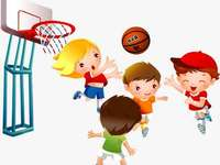Speel basketbal - Speel basketbal. Speel basketbal voor de kinderen. Woordenschat basketbal spelen. Speel basketbal pu