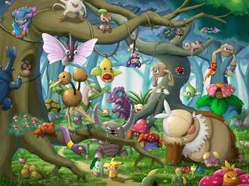 Dziki Pokemon - Pokemon w ich naturalnym środowisku