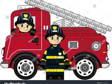 PUZZLE FIREMAN - Material learning to preschoolers.