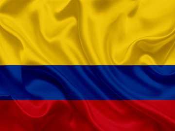 Bandera de Colombia. - Puzzle de la Bandera de Colombia.