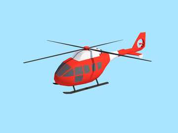 Helicopter puzzle - complete helicopter puzzle