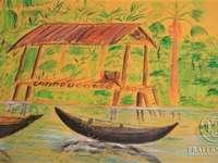 Warao Tribe - Venezolaanse inheemse schilder