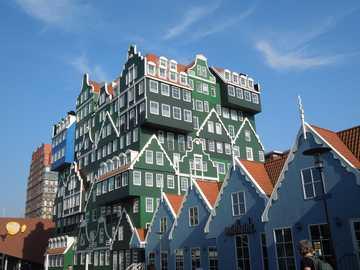skansen w Holandii - Zaandam Gedempte Gracht