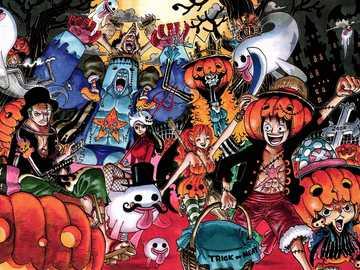 One Piece Wallpaper - Fondo de pantalla de una pieza Sombrero de paja Piratas Halloween