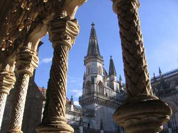 Batalha - Portugal - Photographié à partir d'un magnifique clocher de la cathédrale