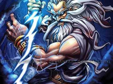 dios del rayo y de dioses zeus - è un dios mitologico de grecia