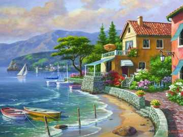 Painting. - Landscape painting.