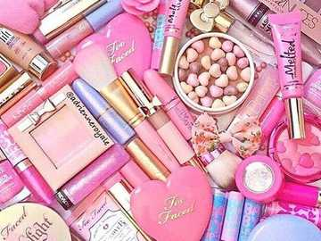 "pink makeup lovers - A cosmetic is generally defined as ""Any substance or preparation for human use for the purpose of"