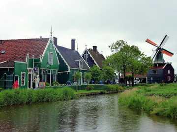 Paesi Bassi - Zaandam - Zaanse Schans - museo all'aperto dei mulini a vento