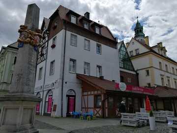 Place du marché - Lubań Śląski - Sur le marché de Lubań Śląski