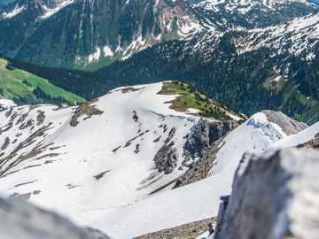 ośnieżona góra - Mount Mcrea - Revelstoke.