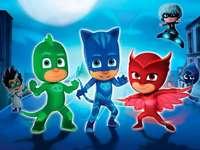 Герои в пижами - Пъзел герои в пижама