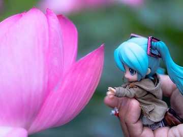 Voglio toccare questo fiore - Miku vuole toccare questo bellissimo fiore