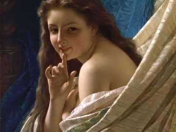 Portret młodej kobiety - Obraz Pierre-Auguste Cot, który był malarzem francuskim.