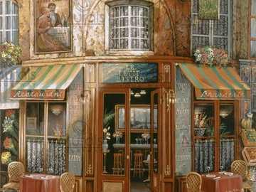 Le Petit Bistro - Dekoracyjne obrazy z motywami miejskimi.