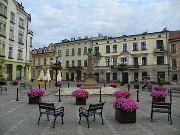 Piazza a Tarnów - Un viaggio a Tarnów in estate