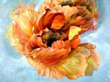 Dmuchany przez wiatr - Kwiat, sztuka, rozmazany