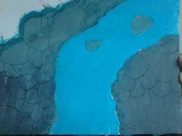 projekt wodospadu - i rysunek, który zrobił mój brat
