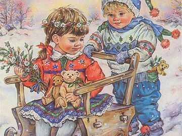 Enfants jouant dans la neige =) - Enfants jouant dans la neige =)