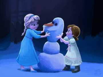 Anna elsa niños - Anna elsa niños olaf