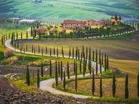 Toscana. - Puzzle peisaj.