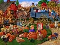 Herbst auf dem Land. - Landschaftspuzzle.