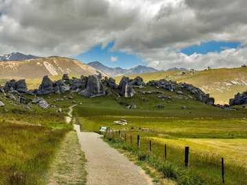 New Zealand - New Zealand mountain landscape