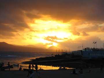 Las Palmas - Zachód słońca w Las Palmas
