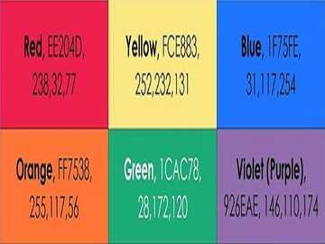 czerwony żółty niebieski pomarańczowy zielony fioletowy fioletowy - lmnopqrstuvwxyzlmnop