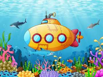 Submarine - Sail on water or submerged.