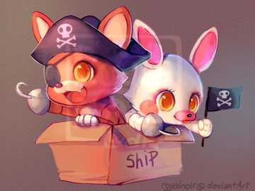 foxy and mangle - when FNaF characters are, so... CUTE