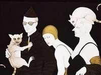 Tecken på svart bakgrund - Författare: Renata Schussheim