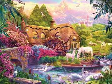 Fairytale landscape. - Puzzle. Fairytale landscape.