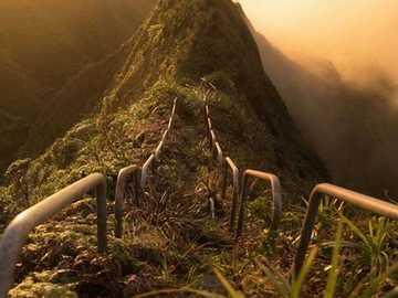 En dit is Hawaï. - Landschap puzzel.