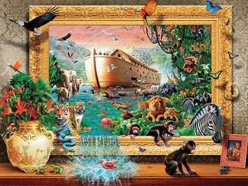 Ontsnap uit de ark van Noach. - Puzzel ontsnappen uit de ark van Noach.